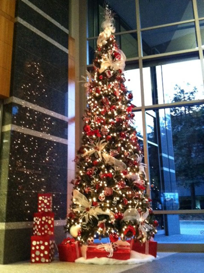 seasonal holiday office decor - Christmas Tree Decorating Service